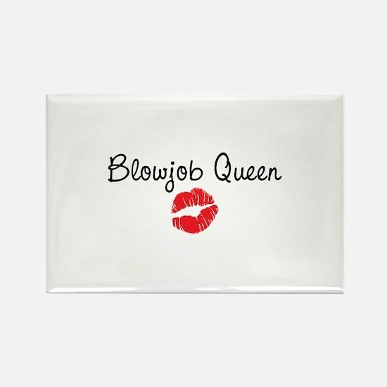 Blowjob Queen Rectangle Magnet