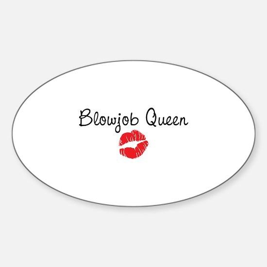 Blowjob Queen Sticker (Oval)