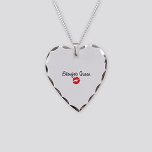 Blowjob Queen Necklace Heart Charm