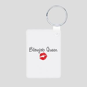Blowjob Queen Aluminum Photo Keychain