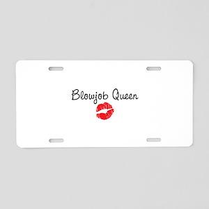 Blowjob Queen Aluminum License Plate