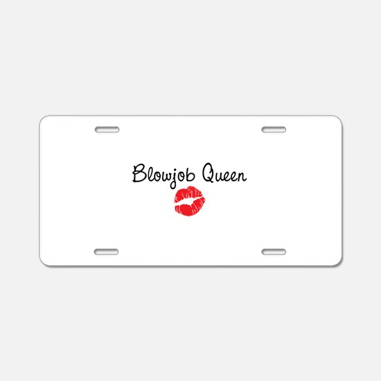 Blowjob Queen Aluminum License Plate
