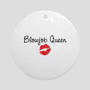 Blowjob Queen Ornament (Round)