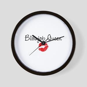 Blowjob Queen Wall Clock
