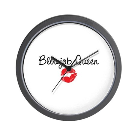 Blowjob Queen Wall Clock