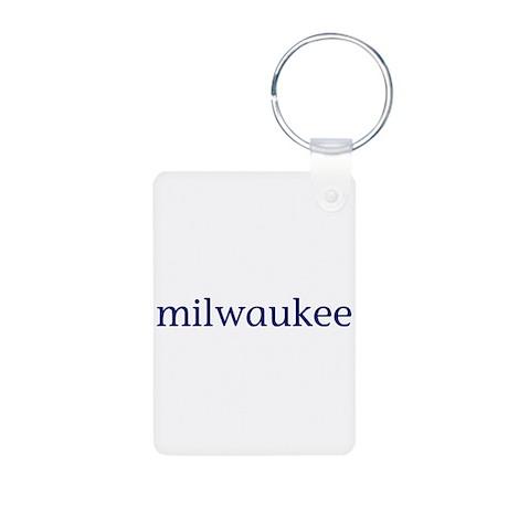 Milwaukee Aluminum Photo Keychain