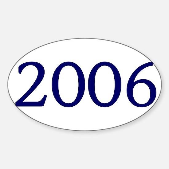 2006 Sticker (Oval)
