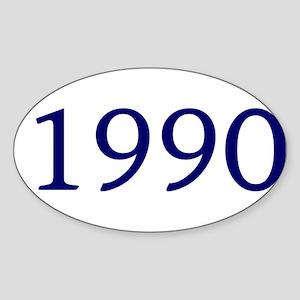 1990 Sticker (Oval)
