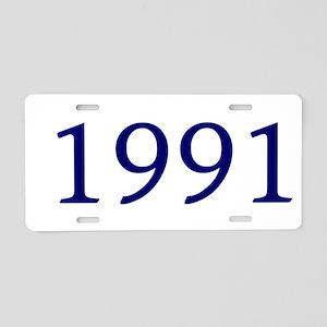 1991 Aluminum License Plate