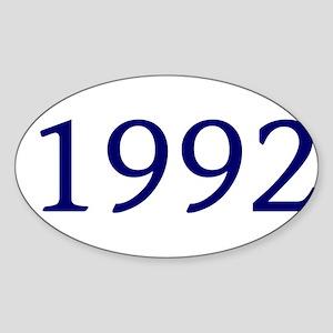 1992 Sticker (Oval)