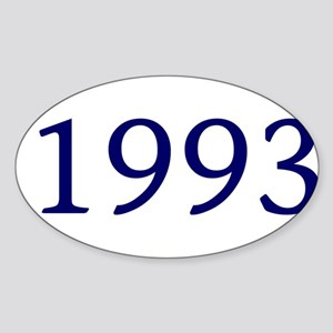1993 Sticker (Oval)