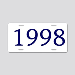 1998 Aluminum License Plate