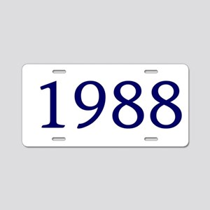 1988 Aluminum License Plate
