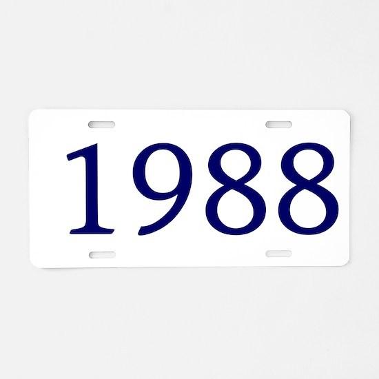 1988 Aluminum License Plate