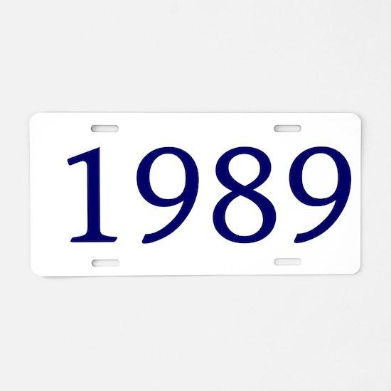 1989 Aluminum License Plate