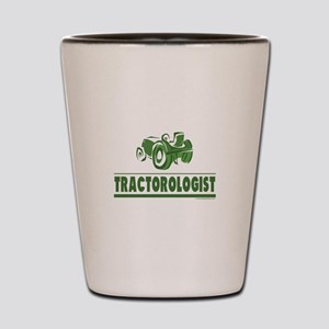 Green Tractor Shot Glass