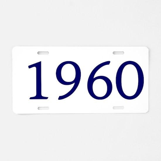 1960 Aluminum License Plate