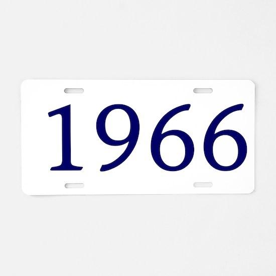 1966 Aluminum License Plate