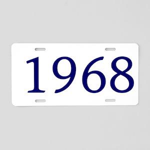 1968 Aluminum License Plate