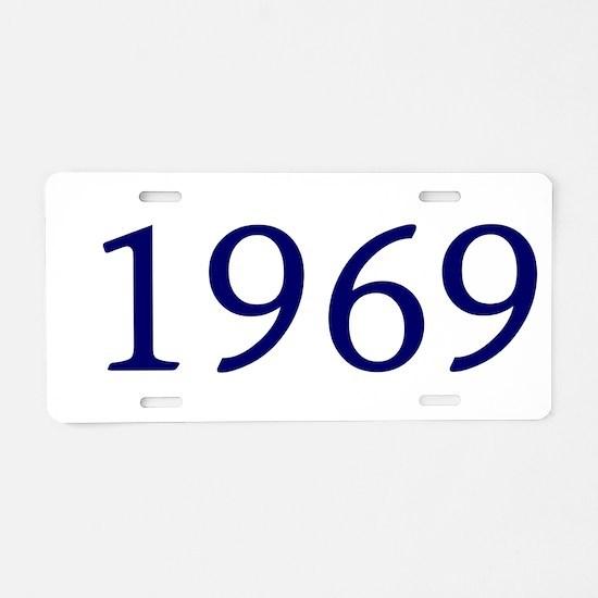 1969 Aluminum License Plate