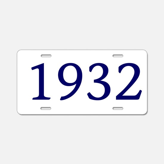 1932 Aluminum License Plate