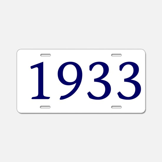 1933 Aluminum License Plate