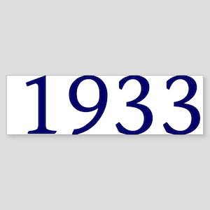 1933 Sticker (Bumper)