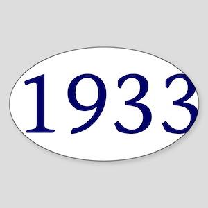 1933 Sticker (Oval)