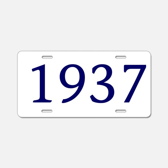 1937 Aluminum License Plate