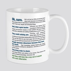 Worship a Librarian 11 oz Ceramic Mug