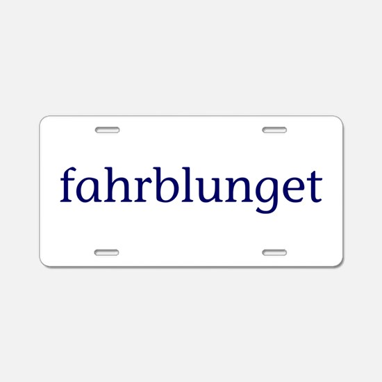 Fahrblunget Aluminum License Plate