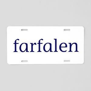 Farfalen Aluminum License Plate
