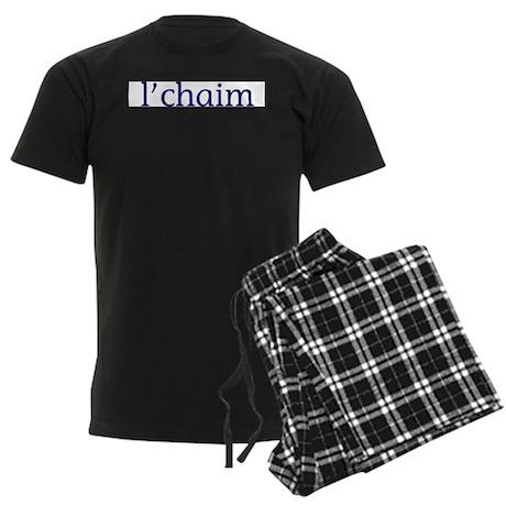 l'chaim Men's Dark Pajamas