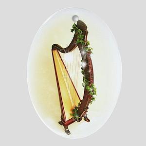 Celtic Harp Xmas Ornament