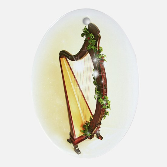 Celtic Harp Xmas Ornament
