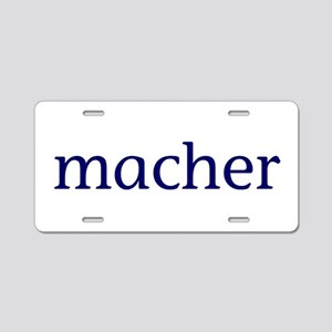 Macher Aluminum License Plate