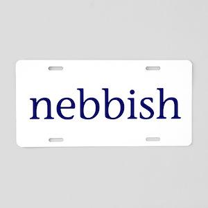 Nebbish Aluminum License Plate