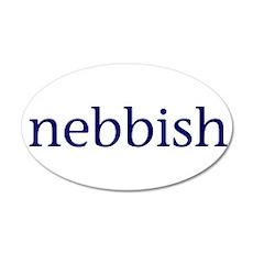 Nebbish 22x14 Oval Wall Peel