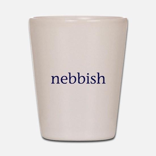 Nebbish Shot Glass
