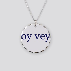 Oy Vey Necklace Circle Charm