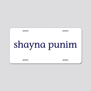 Shayna Punim Aluminum License Plate