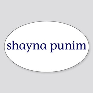 Shayna Punim Sticker (Oval)
