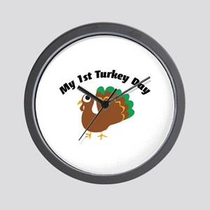 My 1st Turkey Day Wall Clock