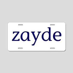 Zayde Aluminum License Plate