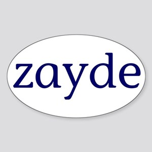 Zayde Sticker (Oval)