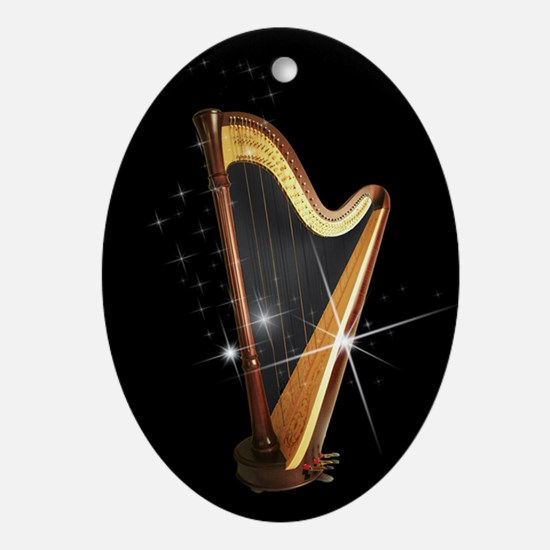 Pedal Harp Xmas Ornament