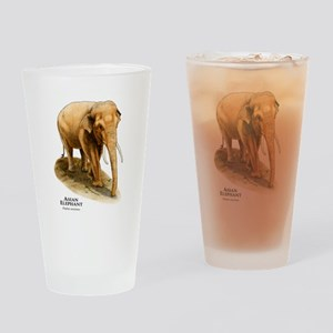 Asian Elephant Drinking Glass