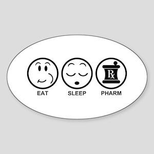 Eat Sleep Pharm Sticker (Oval)