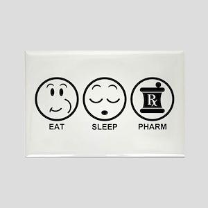 Eat Sleep Pharm Rectangle Magnet