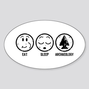 Eat Sleep Archaeology Sticker (Oval)